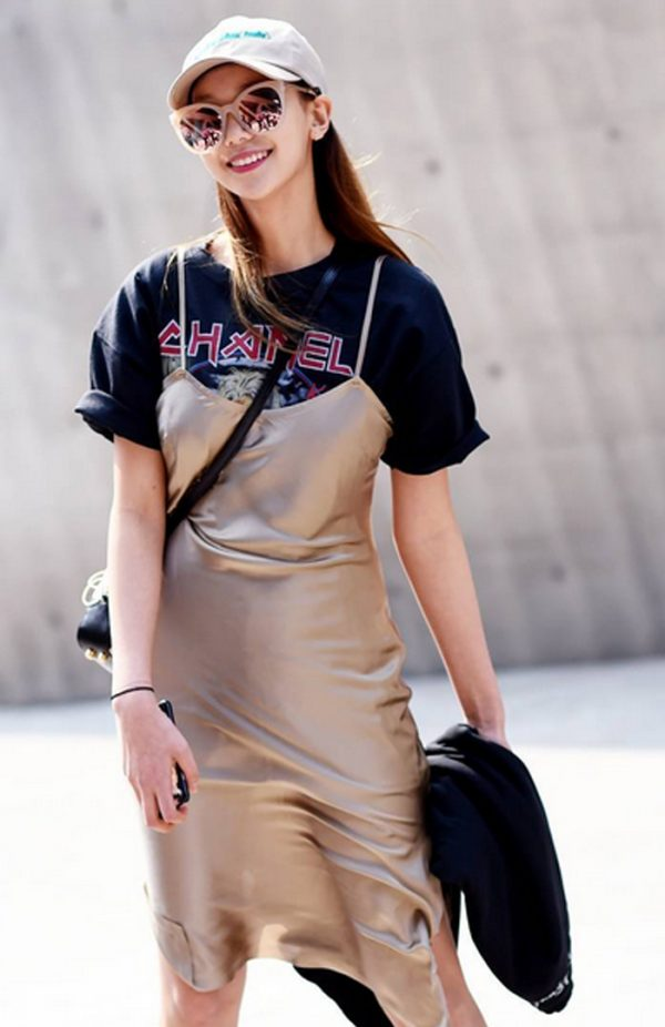 slipdress, vestido lencero, t-shirt, camiseta, inspiración, inspiration