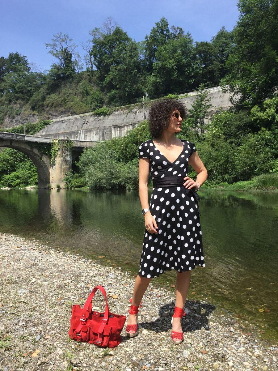 Rebeca Valdivia, Miss Clov, personal shopper, Donostia, San Sebastián, inspo, inspiración, inspiration, tendencia, trendy, lunares, polka dots, frills, espadrilles, alpargatas, madehand, made in Spain, curlpower, curls, Dress