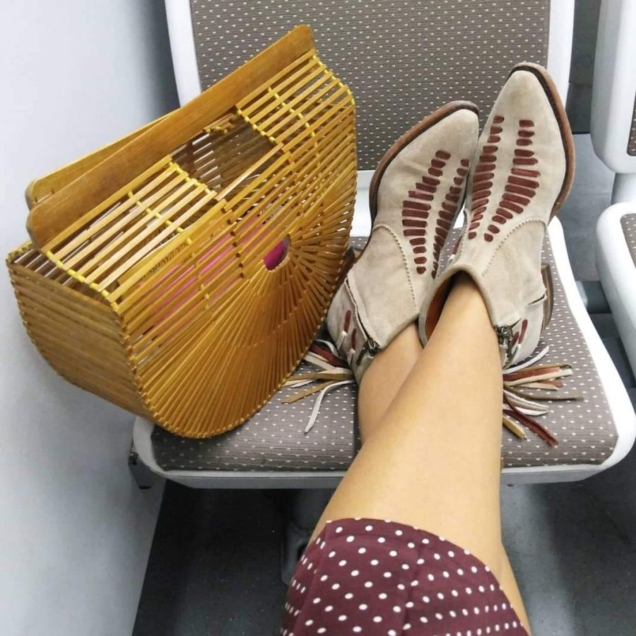 Rebeca Valdivia, asesora de imagen, personal shopper, estilista, stilist, influencer, Donostia, San Sebastián, Miss Clov, la blogger indie, influencer, cowgirl, boots, Sendra, handmade, made in Spain, artesano, bolso bambú, bamboo bag