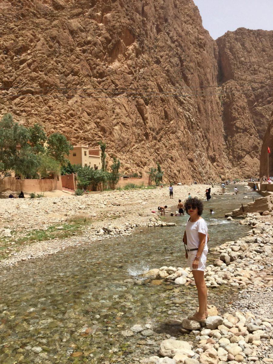 Miss Clov, Rebeca Valdivia, personal shopper, travel, trip, Moroco, Sahara, Atlas, Marrueco, desierto del Sahara, desert, Gargantas del Troda, río Troda