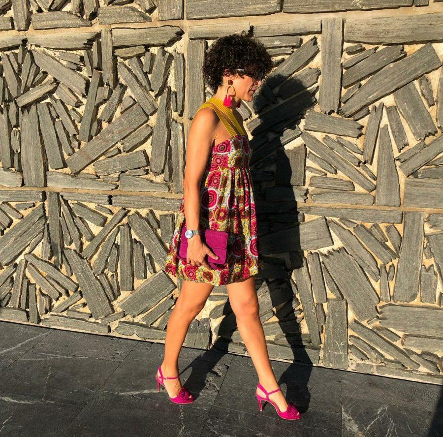 Rebeca Valdivia, asesora de imagen, personal shopper, estilista, stilist, influencer, la blogger indie, Donostia, San Sebastián, Miss Clov, la blogger indie, influencer, Zinemaldi, Festival de Cine de San Sebastian, SSIFF, Printed in South Africa, Denominación de origen, telas africanas, Die Mier by Yolandan, dress, vestido globo, Fany Alonso Couture, handmade, heels, sandalias de tacón, sandals, maxi earings, maxi pendientes, Capitola Watches, Embajadora