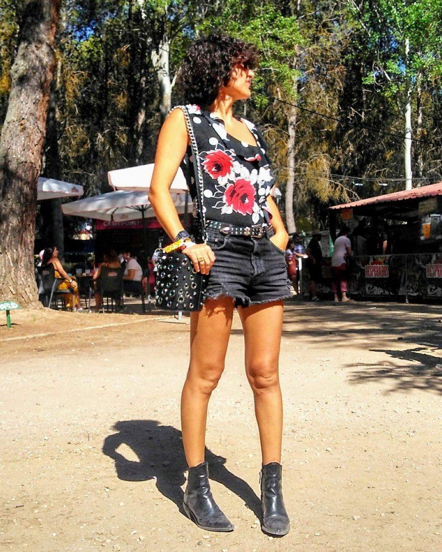 Rebeca Valdivia, asesora de imagen, personal shopper, estilista, stilist, influencer, Donostia, San Sebastián, Miss Clov, la blogger indie, influencer, cowgirl, short, denim, Sonorama