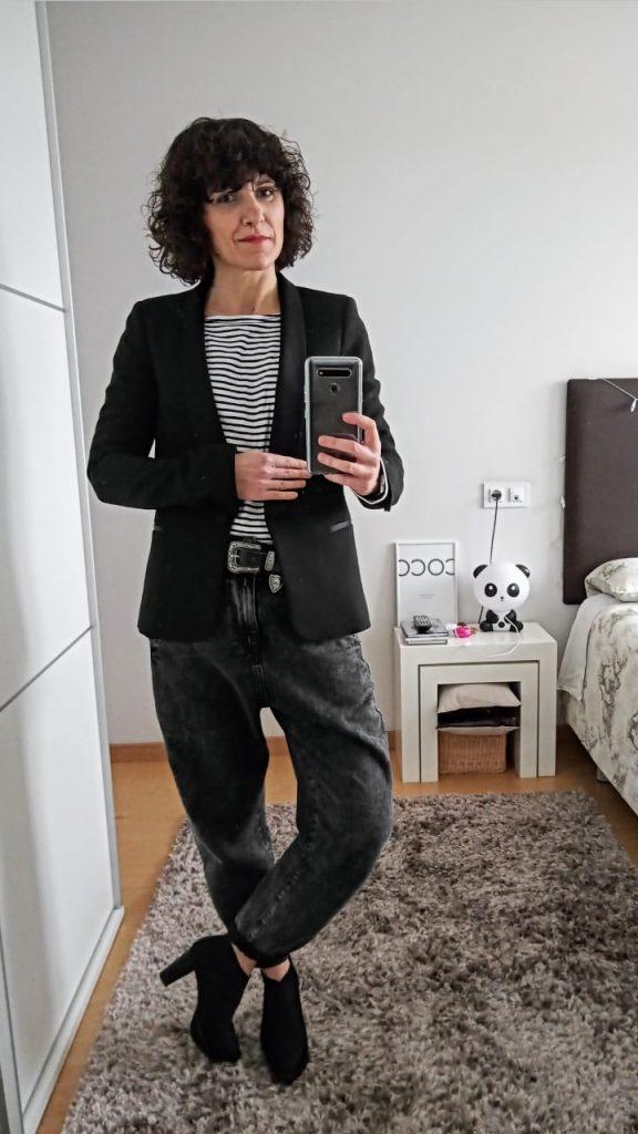 Rebeca Valdivia, asesora de imagen, personal shopper, influencer, Donostia, San Sebastián, Lasarte, Miss Clov, marca, patente, la blogger indie, baggy, slouchy jeans, pantalón, vaquero, denim, trendy, tendencia, blazer
