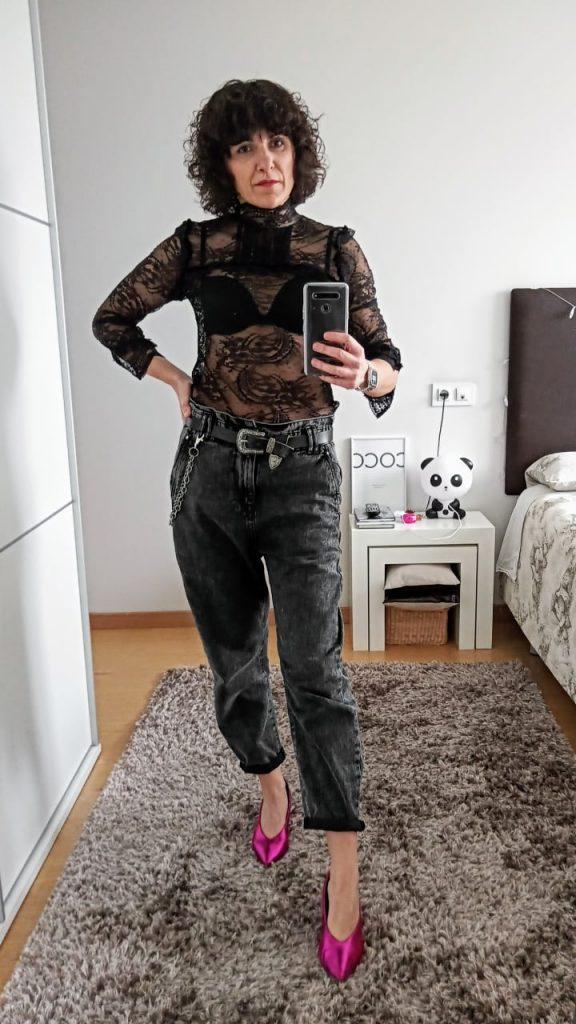 Rebeca Valdivia, asesora de imagen, personal shopper, influencer, Donostia, San Sebastián, Lasarte, Miss Clov, marca, patente, la blogger indie, baggy, slouchy jeans, pantalón, vaquero, denim, trendy, tendencia,